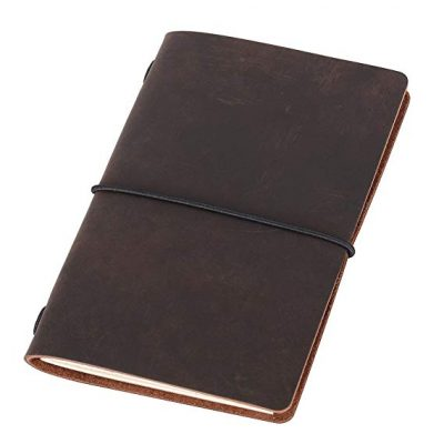 Field Notes Cover - Dotted Leather Journal 3.5 x 5.5 Travelers Notebook: