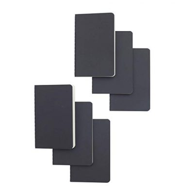 Softcover Pocket Notebook Set - 90 millimeters by 140 millimeters - 6 Pack: