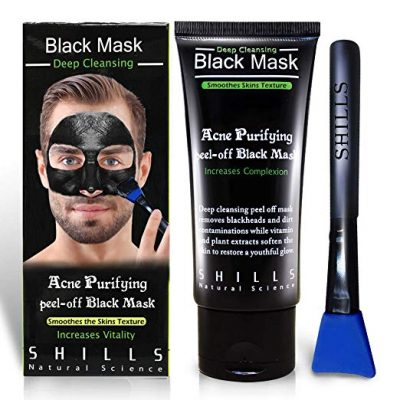 SHILLS Blackhead Remover,Pore Control, Skin Cleansing, Purifying Bamboo Charcoal, Peel Off Facial Black Mask.1 bottle(1.69 fl. oz):