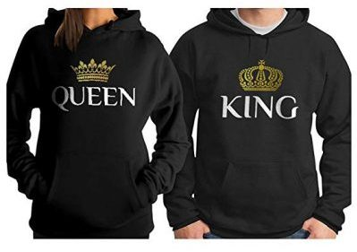 3. King & Queen Matching Couple Hoodie Set His & Hers Hoodies: