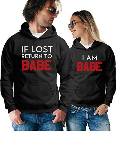 Matching Couple Hoodies - Funny Pullover Sweatshirts - His and Hers Outfits: