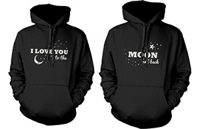 13. Matching Couple Hoodies - I Love You to the Moon and Back - Couple Sweatshirts: