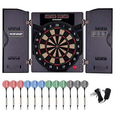 WIN.MAX Electronic Soft Tip Dartboard Set with Cabinet:
