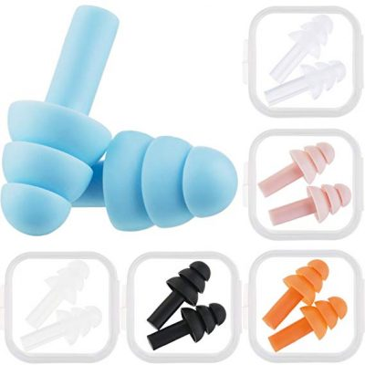 6. Bememo 6 Pairs Ear Plugs Noise Cancelling Reusable Earplugs: