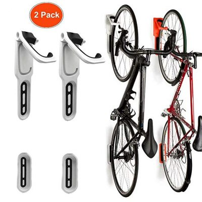6. Reliancer 2 Pack Foldable Vertical Bike Rack Wall Mounted Bicycle Cycle Storage Rack: