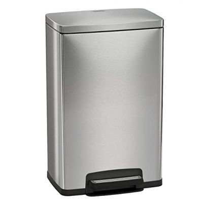 13. Tramontina 13 Gallon Step Trash Can Stainless Steel Includes 2 Freshener Cartridges: