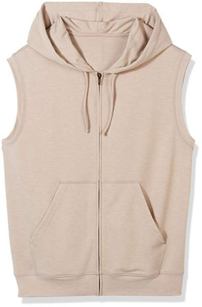 Good Brief Men's Sleeveless Lightweight French Terry Zip-Up Hoodie:
