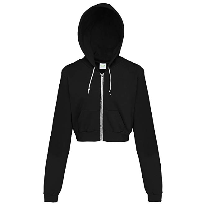 Awdis Just Hoods Womens/Ladies Girlie Cropped Full Zip Hoodie Jacket