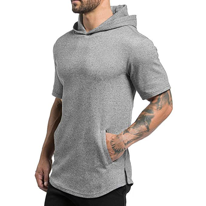 Magiftbox Mens Hipster Hip Hop Workout Short Sleeve Hoodies