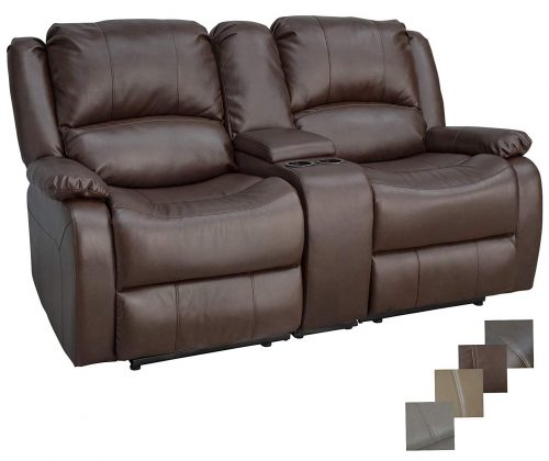 """RecPro Charles Collection   67"""" Double Recliner RV Sofa & Console"""
