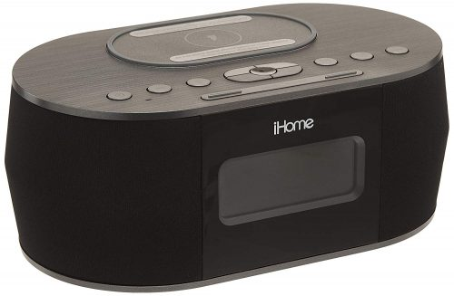 iHome iBTW38 Alarm Clock Bluetooth Stereo with Lightning iPhone Qi Wireless Charging Dock Station