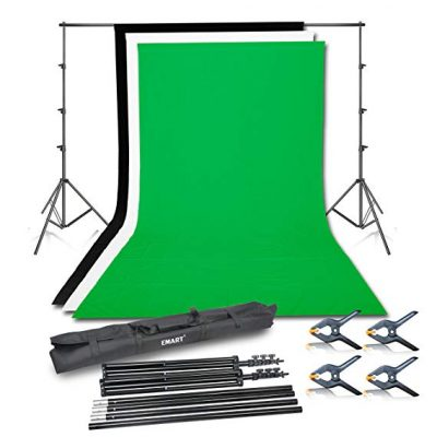 3. Emart Photo Video Studio Background Backdrop Stand Kit:
