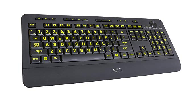 9. Azio Vision Backlit USB Keyboard: