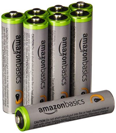 18. AmazonBasics AAA High-Capacity Rechargeable Batteries (8-Pack):