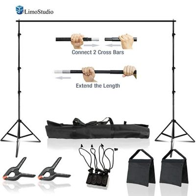 LimoStudio 10 x 8.5 ft Adjustable Photo Video Background Muslin Stand: