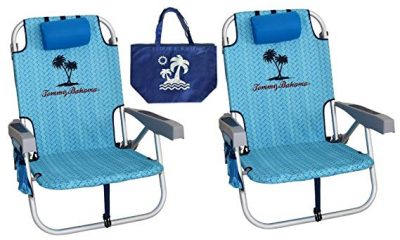 13. 2 Tommy Bahama Backpack Beach Chairs: