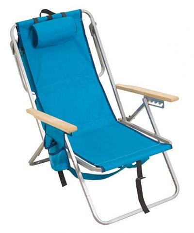 10. Rio Brands Gear 5 Position Steel Backpack Chair with Cooler: