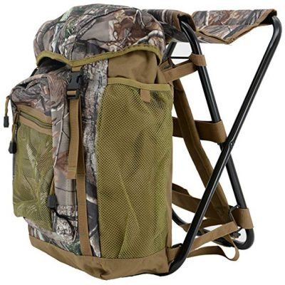 2. Realtree Sport Seat Backpack with Built-in Chair: