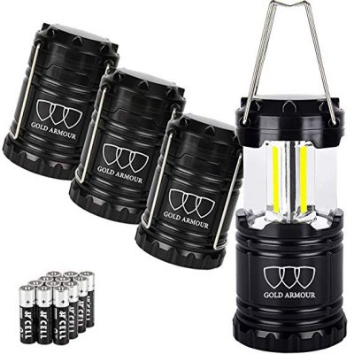 4. Gold Armour 4Pack Portable LED Camping Lantern: