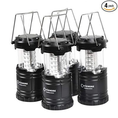 3. 4 Pack,Portable LED Camping Lantern,Outdoor Flashlights by CycleMore: