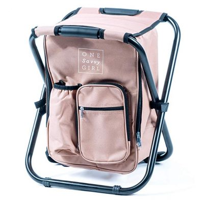 3. One Savvy Girl Ultralight Backpack Cooler Chair: