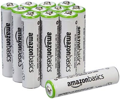 16. AmazonBasics AAA Rechargeable Batteries (12-Pack):