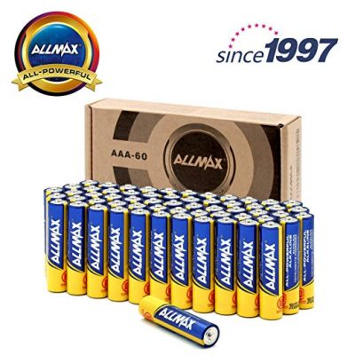 2. ALLMAX All-Powerful Alkaline Batteries- AAA (60-Pack):