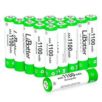 1. LiBatter 16Pack AAA 1100mAh Ni-MH Rechargeable Batteries: