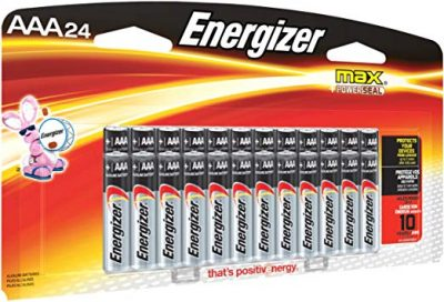 8. AAA Batteries, 24 count – Energizer: