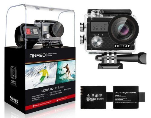 AKASO Brave 4 4K 20MP WiFi Action Camera Ultra HD with EIS 30m Underwater