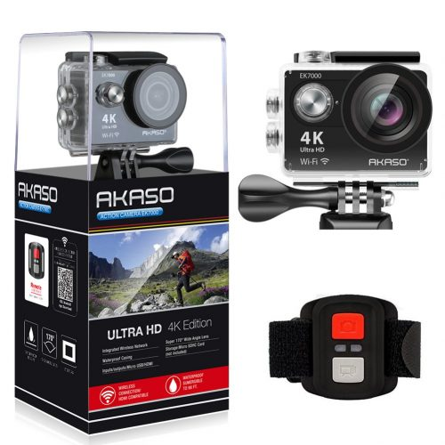AKASO EK7000 4K WiFi Sports Action Camera Ultra HD -4K Action Cameras Under 100