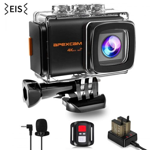 Apexcam 4K 20MP WiFi Action Camera EIS Ultra HD Sports Camera Underwater