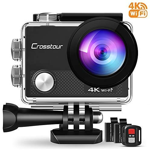Crosstour 4K Action Camera 16MP WiFi Underwater