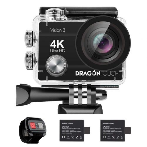 Dragon Touch 4K Action Camera 16MP Vision 3