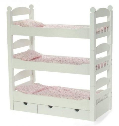18 Inch Doll Furniture | 3 Single Stackable Doll Beds