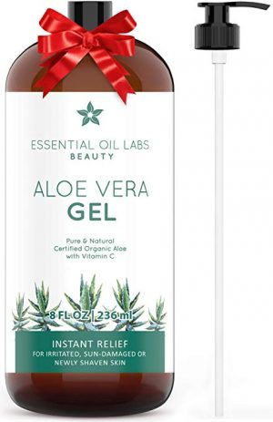 Aloe Vera Gel, 8 oz, Organic, Pure and Natural