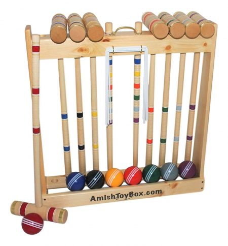 Amish Crafted Deluxe Croquet Game Set, 8 Player