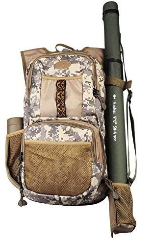 AnglerDream Fly Fishing Pack Outdoor Sports Mesh Vest Pack/Chest Pack
