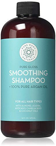 Argan Oil Shampoo, Hydrate and Restore Hair with 100% Natural Moroccan Argan Oil, Keratin and Biotin-Pure Argan Oils