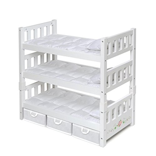 Badger Basket 1-2-3 Convertible Doll Bunk Bed with 3 Storage Baskets