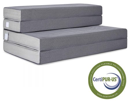 Best Choice Products 4in Thick Folding Portable Full Mattress