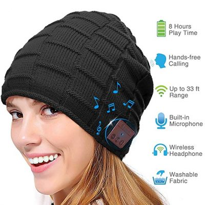 Bluetooth Beanie Hat, Smart Wireless Music Beanie for Men and Women
