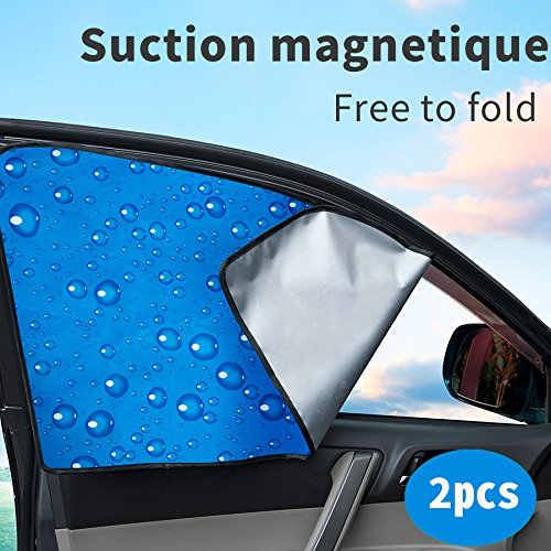 Car Front Side Window Car Sun Shade Double Thickness Auto Windshield Sunshades Universal Fit for Baby UV protection