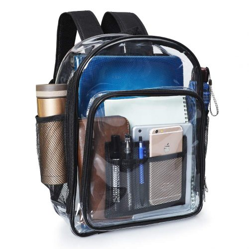 Clear Backpack, MFTEK Transparent PVC Backpacks