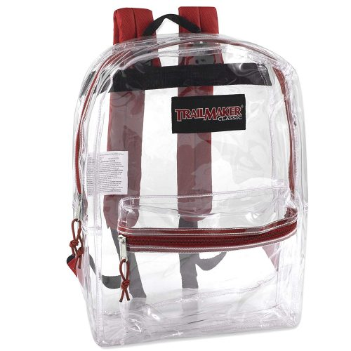 Clear Backpack With Reinforced Straps For School, Security