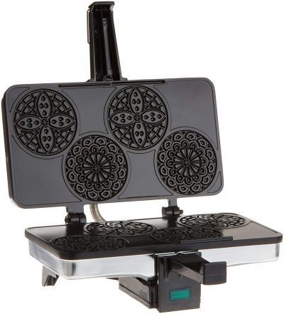 CucinaPro 220-03 Mini Pizzelle Maker Black