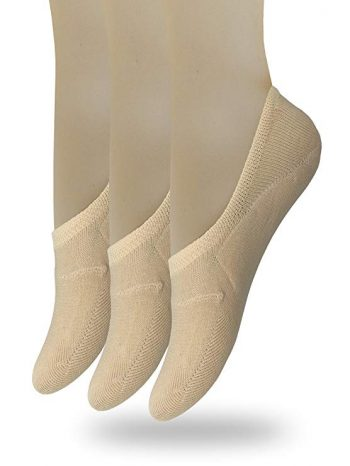 Eedor Women's 3 to 8 Pack Thin Casual No Show Socks Non Slip Flat Boat Line