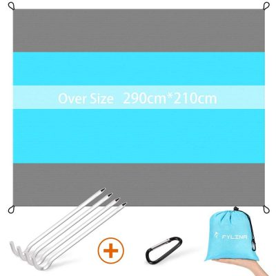 FYLINA Sand Free Beach Blanket Quick Drying Ripstop Nylon Compact Outdoor Picnic Beach Mat Size 7'x9'