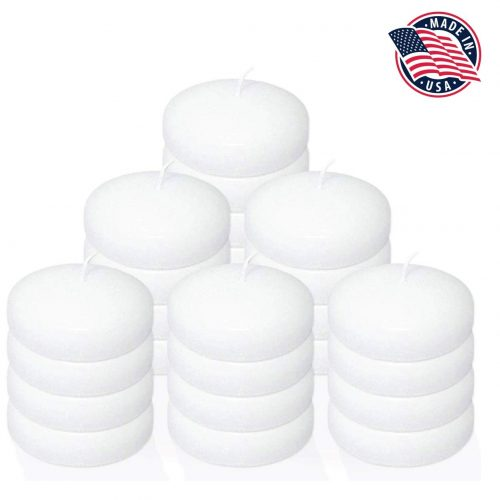 Floating Candles Set of 24 White Unscented Classic Floating Candles