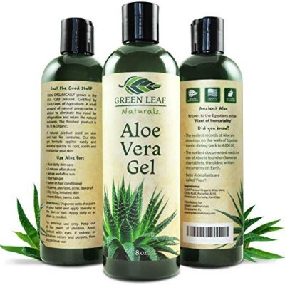 Green Leaf Naturals Organic Aloe Vera Gel, Pure Daily Moisturizer for Skin
